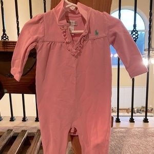 Ralph Lauren Pink with Green One Piece